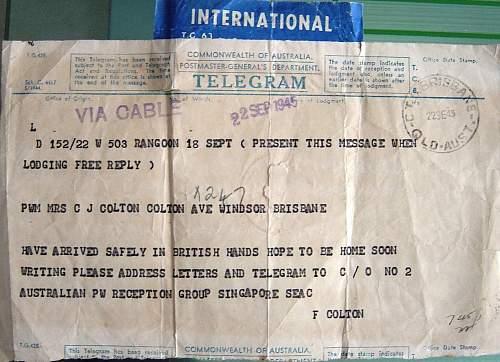 Click image for larger version.  Name:1945 POW liberation telegram.jpg Views:167 Size:168.7 KB ID:6252