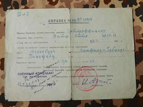 A nice groupng of documents to the one soldier