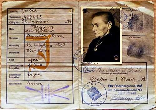 1939 ausweis: Litzmannstadt Ghetto marked