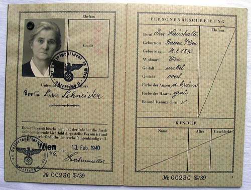 German Reisepass 1940
