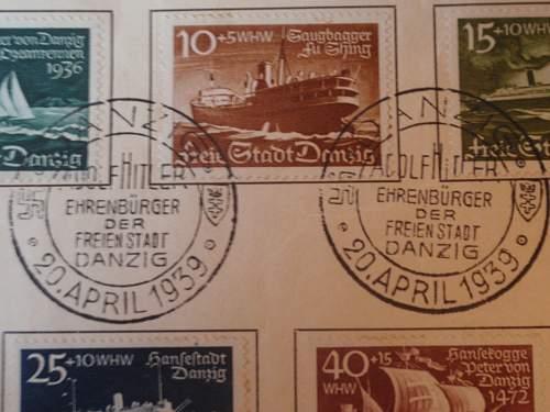 Click image for larger version.  Name:Adolf Hitler Ehrenbürger der Freienstadt Danzig 20-April-1939 stamps _1.jpg Views:482 Size:206.6 KB ID:631833