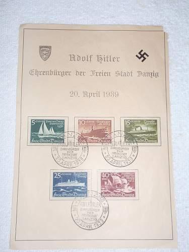 Click image for larger version.  Name:Adolf Hitler Ehrenbürger der Freienstadt Danzig 20-April-1939.jpg Views:354 Size:195.6 KB ID:631834