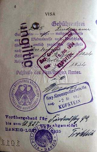 Danzig officials in Germany-a question