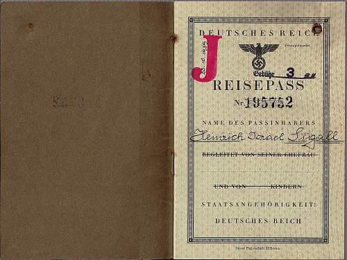 German 1939 passport...Lublin-Majdanek concentration camp