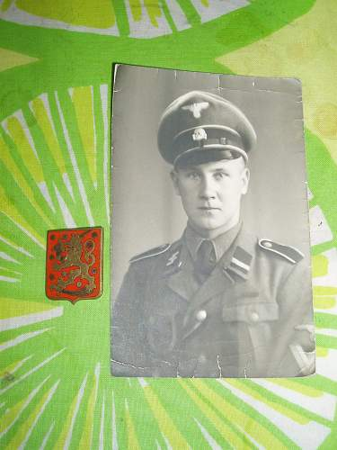 Finnish ss photo and badge