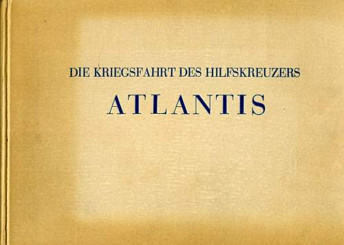 Hilfskreuzer Award Documents.
