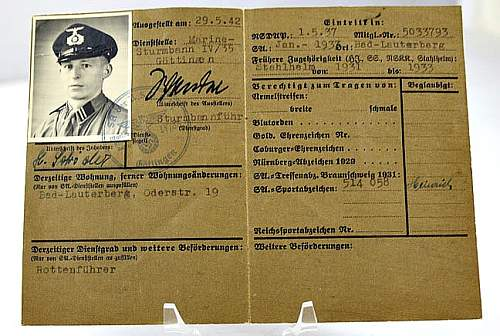 Information on SA Marine Ausweiss ID Book ? What is it?....