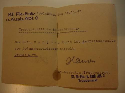 Gefreiter Johann Manger