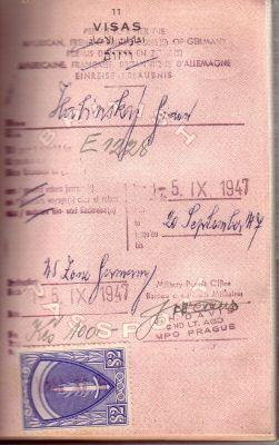 post-war German visa
