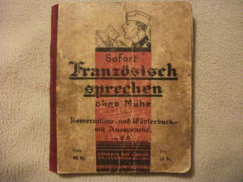 French Phrase book made for German soldiers