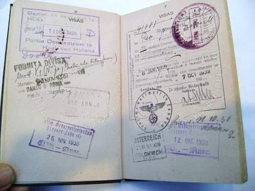 British passport with Nazi stamp