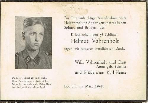 SS death card