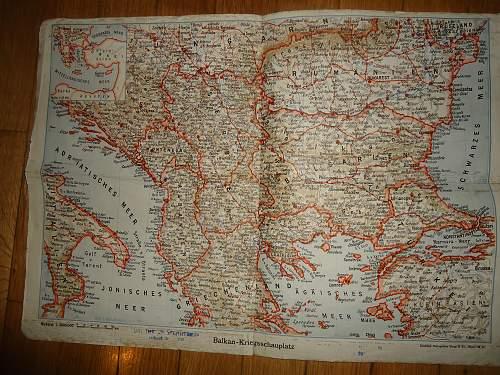 German ww2 Balkan map