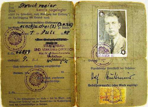 posted this a few days ago: post-war drivers license