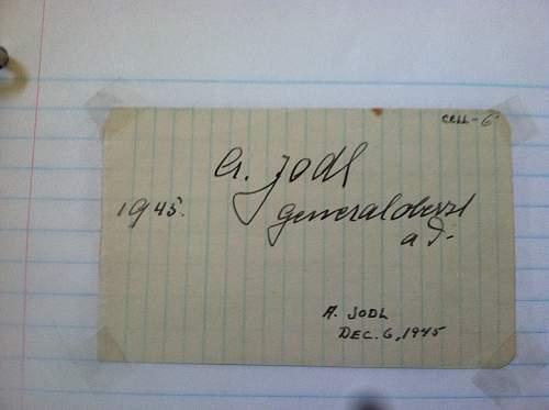 Click image for larger version.  Name:Alfred Josef Ferdinand Jodl Nuremberg Trials CELL 6 DECEMBER 6 1945.jpg Views:333 Size:158.6 KB ID:674699