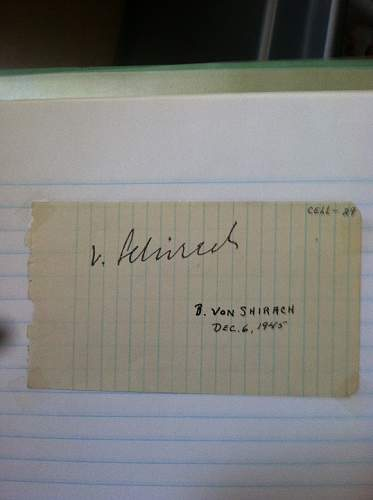 Click image for larger version.  Name:Baldur Benedikt von Schirach Nuremberg Trials Cell 29-2nd autograph different.jpg Views:74 Size:155.7 KB ID:674703