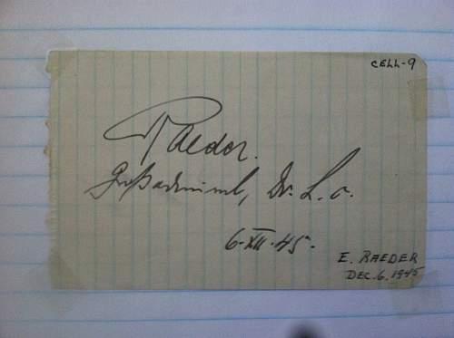 Click image for larger version.  Name:Erich Johann Albert Raeder (Grand Admiral) Nuremberg Trials December 6 1945.jpg Views:106 Size:154.6 KB ID:674705