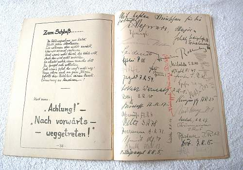 1937 Hannover Kriegsschule Graduates...Officer Signatures