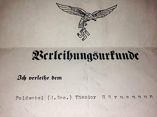 Luftwaffe Aircraft Observer Badge - Citation. Opinions please.