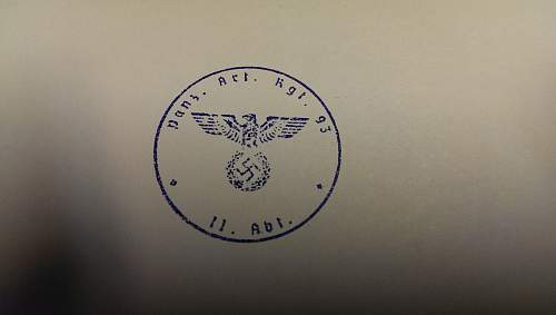 WWII German Panzer Document/Wax Stamp.
