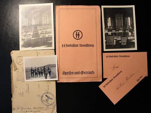 SS Totenkopf Officer Feldpost+Photo+Documents lot