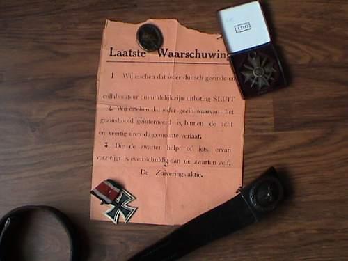 dutch resistance notice