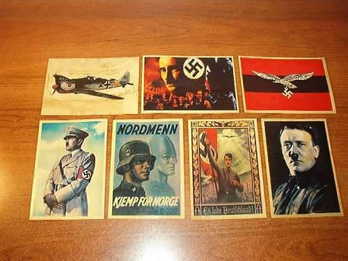 Propaganda postcards  Nordmenn SS