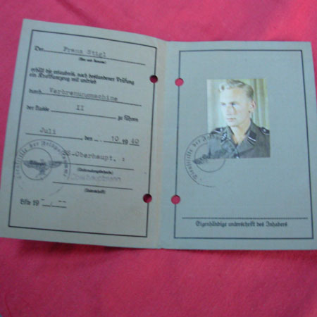Waffen SS driver license