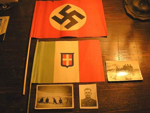 German and Italian paper flag for Special Event