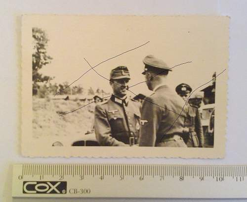 Leon Degrelle and Heinrich Himmler - rare photo, oryginal ?