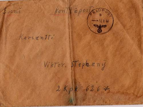 Info on Feldpostnumber and help with translation of German FP letter