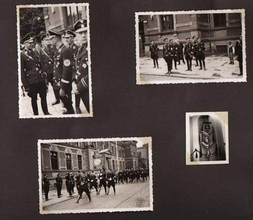 Interesting early NSDAP political and SS photo album