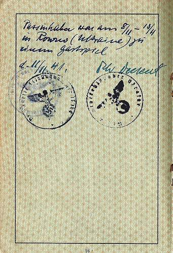 Identifying a German officers signature ? - 1941
