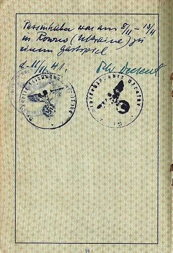 Click image for larger version.  Name:'Dienstelle feldpostnummer 13199' & 'Wehrmacht Befehlshaber Ukraine'.jpg Views:157 Size:230.4 KB ID:690130