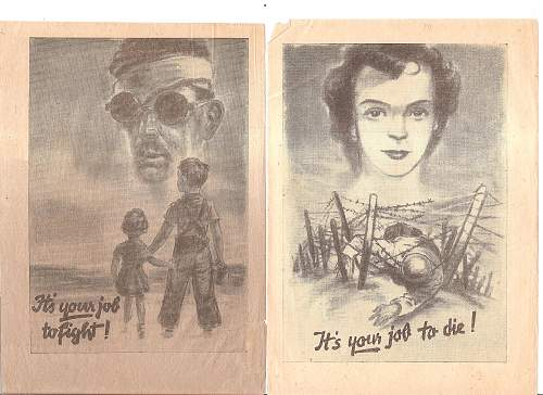 Some late war propaganda flyers