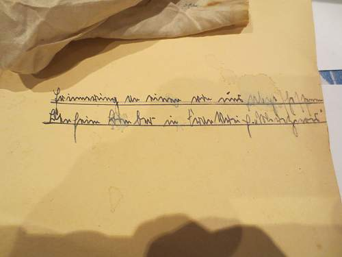 translation of German writing please?
