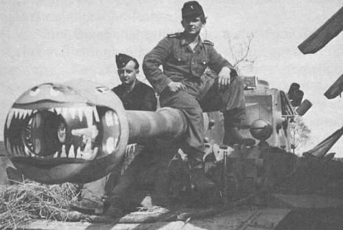 Amazing tiger tank gun muzzle