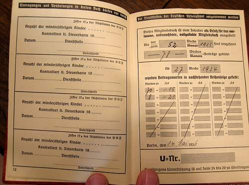 My Photos, DAF Member Book & Death Card