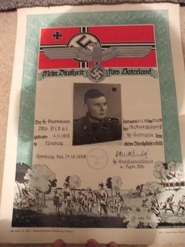 SS Germania Document