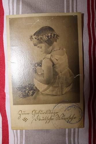 deutsches frauenwerk post cards and ns frauen-warte heft 14