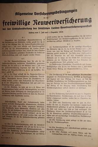 DOV versicherungsschein 1942