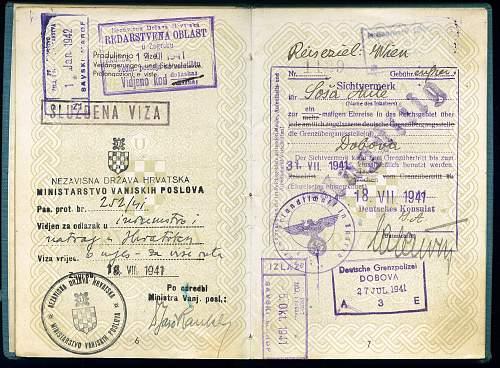 Identifying a signature - 1941 Croatian passport