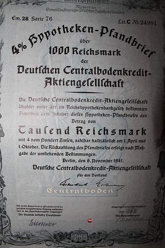 steuergutschein 1937 and aktiengefellschaft 1941