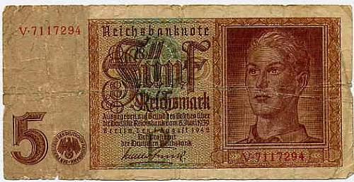 Five Mark Banknote