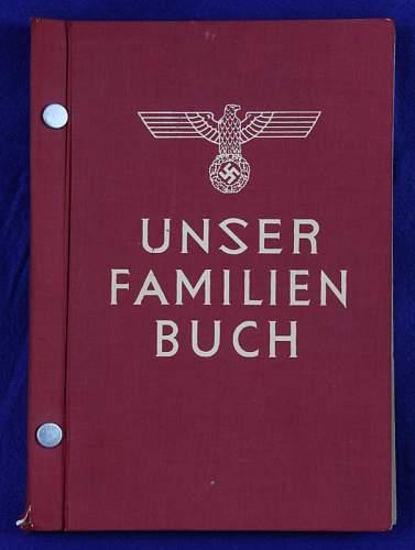 family Book to prove Aryan decent