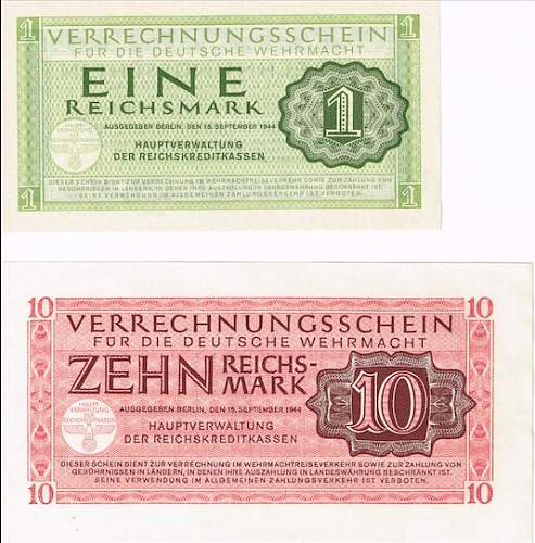 German banknotes