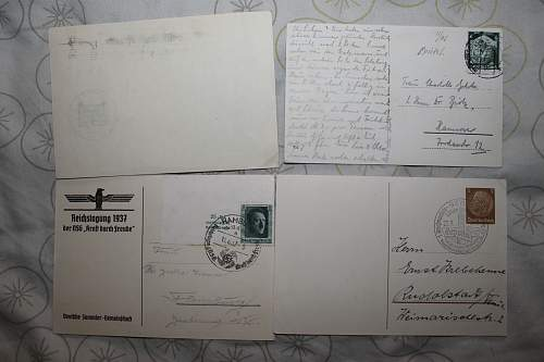 various post cards