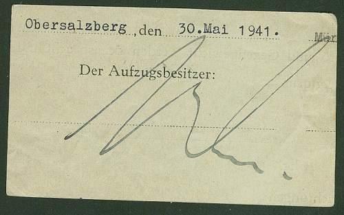 Is this Martin Bormann's signature?