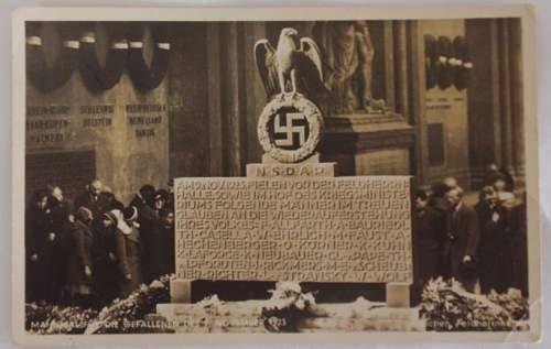 Click image for larger version.  Name:N_S_D_A_P Die Gefallen Des 9 November 1923 front.JPG Views:206 Size:60.7 KB ID:753904