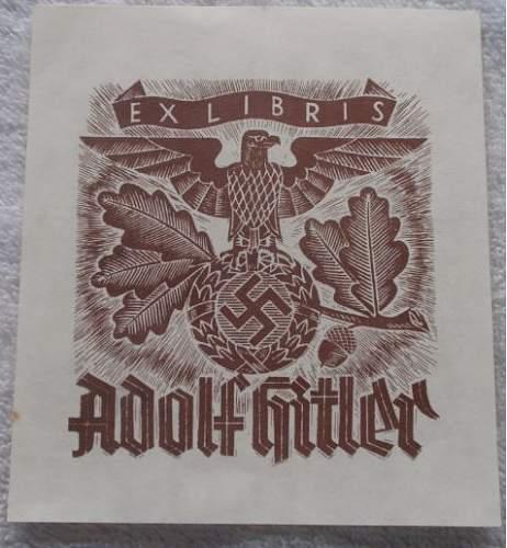 Click image for larger version.  Name:EX Libris Adolf Hitler.JPG Views:361 Size:53.4 KB ID:767353